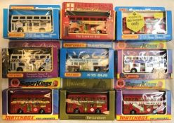 Matchbox: A collection of assorted Matchbox buses to include: King Size together with other Matchbox