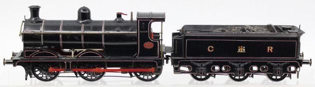 Caledonian: An O gauge, kit built, 0-6-0, locomotive and tender, Caledonian Railway, '282',