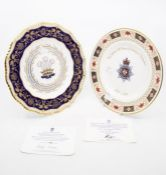 Two Royal Crown Derby plates, limited edition plate, 2007 for the Derbyshire Constabulary and 1981