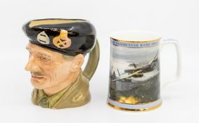 Royal Doulton The Dambusters tankard with certificate, along with Royal Doulton Monty character jug