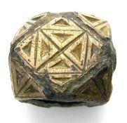 Anglo-Saxon Armour Strap Junction. Circa 6th - 7th century AD. Copper-alloy, 19.94 grams. 20.37