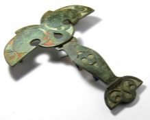 Celtic Harness Brooch. This amazing piece of Ancient British horse furniture dates back to the mid