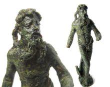 Roman Statuette of Neptune/Poseidon. Circa 1st-4th century AD. Copper-alloy, 147.7 grams. 108.5