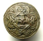 Viking Disc Brooch. Circa 10th century AD. Size: 28.30 mm. A brooch of the finest quality, well