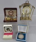 An Ingersoll Triumph pocket watch, with original guarantee, in box, together with a Timex