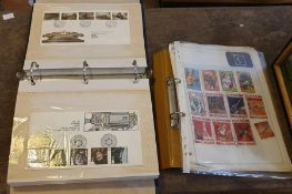 Stamps & Cigarette Cards. Collection comprising: Royal Mail album of FDCs; 1980s binder of FDCs;