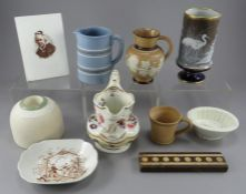 A collection of nineteenth and twentieth century pottery, c.1830-1920. Yo include: a named and dated