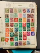 Stamps. Collection of mid-20th century used stamps on loose album sheets and in two binders,