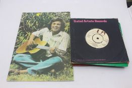 Don McLean, 1980 tour programme, plus demo 45 of Vincent and 15 demo promo 45's all late 1970's.