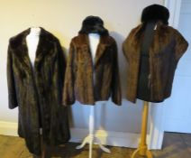 A collection of Fur Coats to include: A short squirrel jacket 1958/9 fully lined and a squirrel
