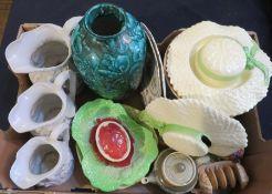 A group of mixed English ceramics to include: Langley Mill, Falcon Ware, Carlton ware, Macintrye,