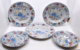 A set of five 19th century Ironstone plates and dishes (5)