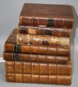 Bayle's Dictionary, volumes 3 and 5, second edition, published 1738, folio, together with five