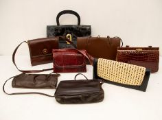 A collection of handbags (qty)