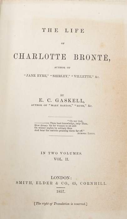 ***OBJECT LOCATION BISHTON HALL ***Gaskell, Elizabeth. The Life of Charlotte Bronte, first edition, - Image 10 of 10