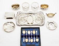 A parcel of assorted silverwares, to include a late Victorian Sampson Mordan wishbone handled