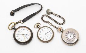 A silver half hunter topwind pocket watch, the white enamel dial marked Wilson & Sharp, Edinburgh,