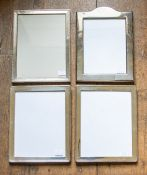 A near pair of George V rectangular silver framed easel photograph frames, openings 22cm by 17cm,