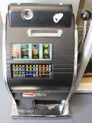 Amusement: A Bonanza, One-Arm Bandit, 6d Slot Machine, in a restored condition, height approx. 70cm,