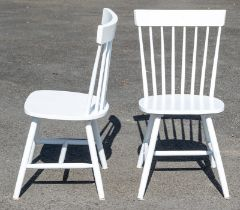 Two White painted wooden Chairs from the Provenance Baroness Boothroyd