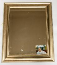 **REOFFER LONDON MAY 10/20** A Modern silvered framed rectangular wall mirror complete with