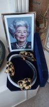 """A cased costume jewellery Necklace , as worn by """"Betty"""" Provenance Baroness Boothroyd"""