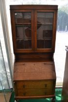 An Art Deco bureau bookcase