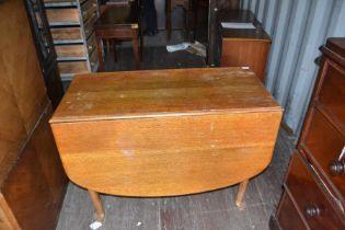 A George III oak drop leaf table