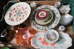A collection of twentieth century ceramic wares to include, Minton, Grindley, Wedgwood, Royal