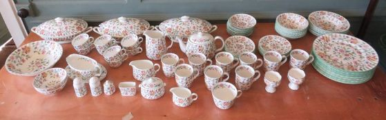 A Minton Haddon Hall comprehensive and extensive dinner and tea service, also including salt and