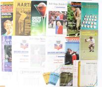 Golf Memorabilia: A collection of assorted 1980's golf programmes to include: Bob Hope British
