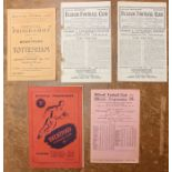 A collection of five assorted football programmes to comprise: Brentford v. Tottenham, 10/11/1945;