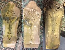 ***WITHDRAWN*** Three stone carved posts, comprising a pair of posts, measuring 70cm high, 28cm