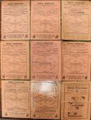 A collection of assorted Tottenham Hotspur programmes to comprise: v. West Ham, 15/9/1945; v.