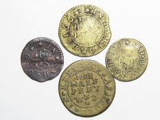 Kent 17th Century Trade Tokens.  Ashford (4). Frances Baylef, Pyd Bull. Farthing. 1.08g. W3. William