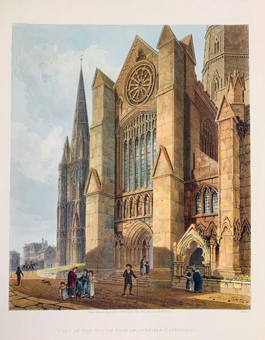 Lichfield. Collection of architectural and topographical prints of Lichfield Cathedral,