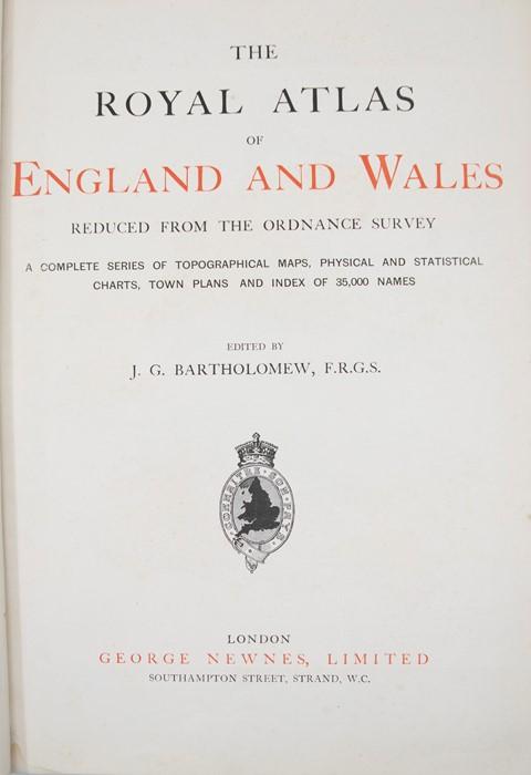 Bartholomew, J. G. The Royal Atlas of England and Wales, London, [c.1899]. Folio, publisher's - Image 2 of 2