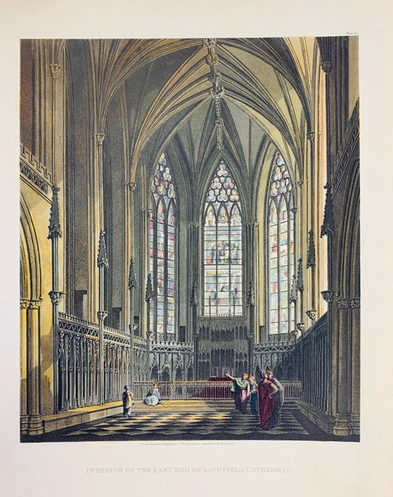 Lichfield. Collection of architectural and topographical prints of Lichfield Cathedral, - Image 2 of 3