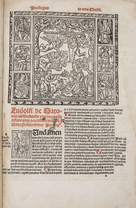 Ludolphus de Saxonia. Vita Jesu Christi, [Lyon: Stephano Gueynard,Venundatur Lugdu,1516]. Small - Image 2 of 2