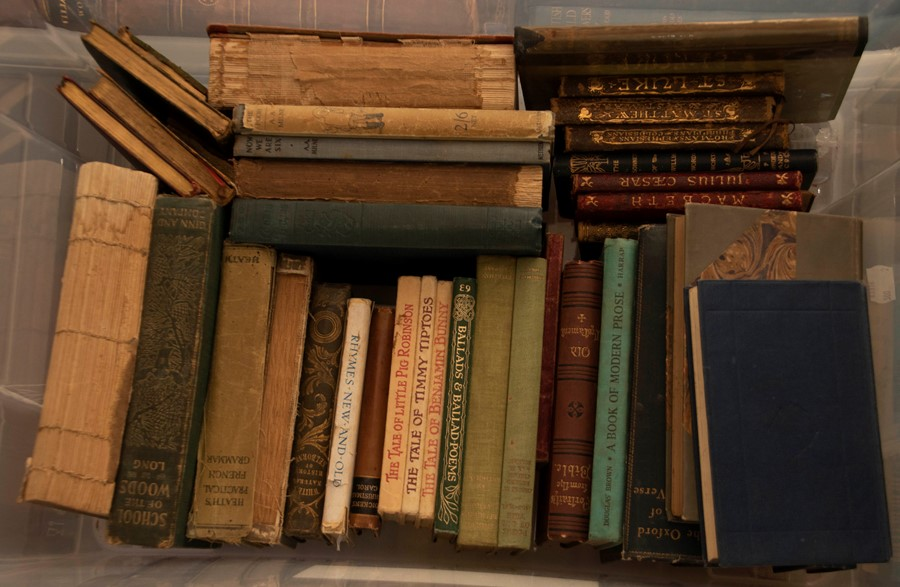 Collection of books, some bearing owner inscriptions of Briton Riviere RA (1840-1920), some with