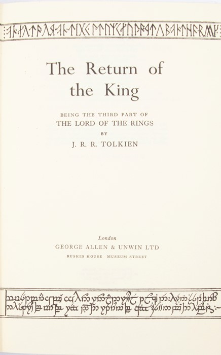 Tolkien, J. R. R. The Lord of the Rings trilogy, second editions, first impressions, London: - Image 4 of 4