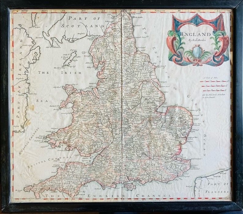 Hole, William. Map of Scotland, [1610 or later], hand-coloured copper engraving on laid paper, 29. - Image 2 of 3