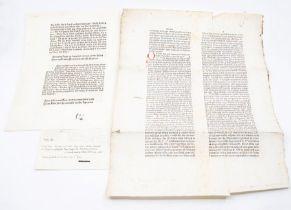 Caxton, William. Single leaf from Disticha de moribus [attributed to Dionysius Cato], in English,