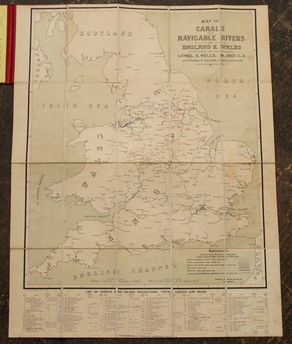 Map of Canals and Navigable Rivers of England and Wales, by Lionel B. Wells, Manchester & London: G. - Image 2 of 2