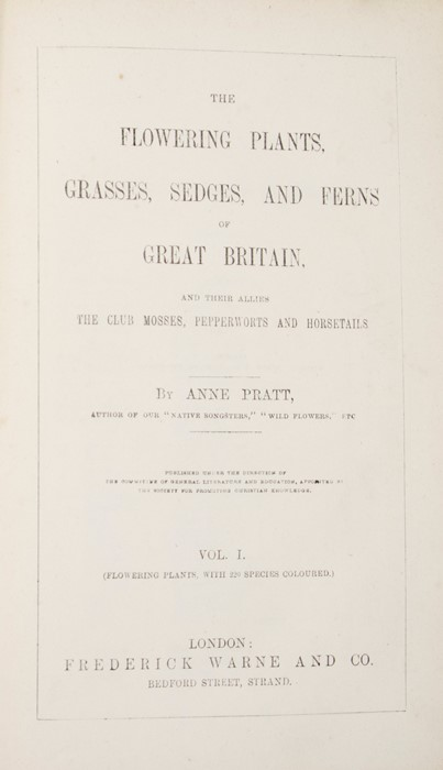 Pratt, Anne. The Flowering Plants, Grasses, Sedges, and Ferns of Great Britain, in six volumes, - Image 2 of 3