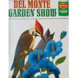 Del Monte advertising. Collection of eight Garden Show posters depicting birds and flowers, Litho in