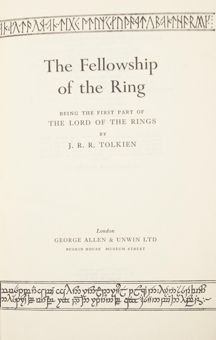 Tolkien, J. R. R. The Lord of the Rings trilogy, second editions, first impressions, London: - Image 2 of 4