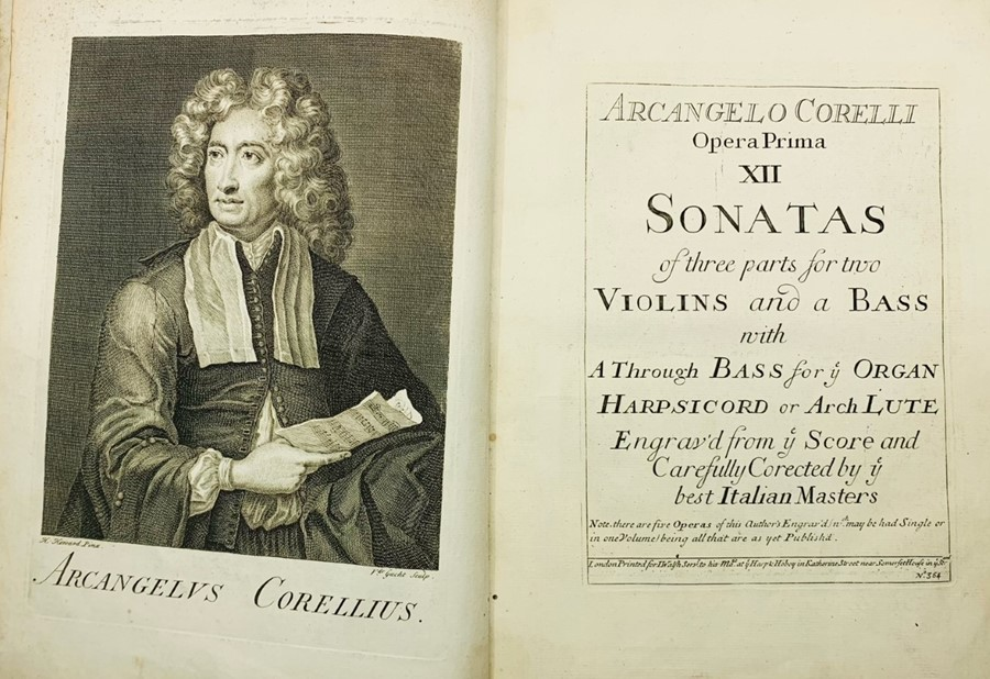 Corelli, Arcangelo. Opera Prima, XII Sonatas of three parts for two Violins and a Bass, with A