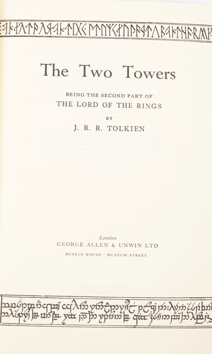 Tolkien, J. R. R. The Lord of the Rings trilogy, second editions, first impressions, London: - Image 3 of 4