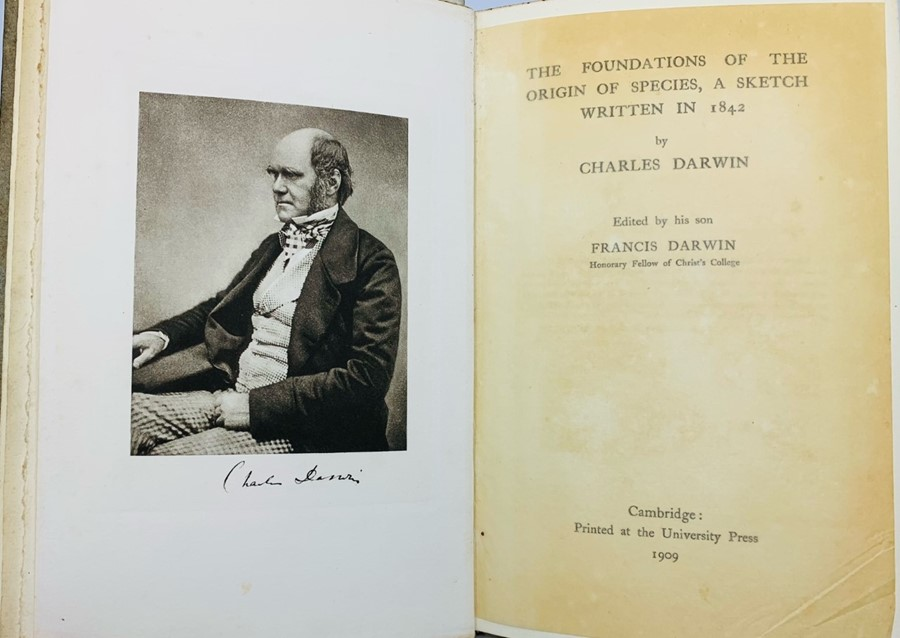 Darwin, Francis (Ed.). The Foundations of the Origin of Species, A Sketch Written in 1842, by - Image 2 of 2
